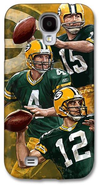 Green Bay Packers Quarterbacks Galaxy S4 Case by Nate Baranowski