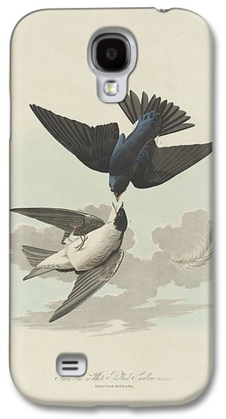 Green-blue Or White-bellied Swallow Galaxy S4 Case by John James Audubon