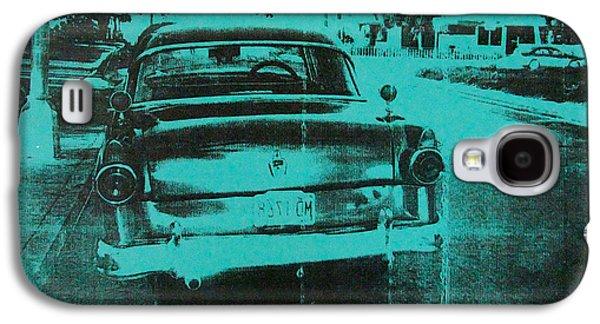 Screen Print Galaxy S4 Cases - Green car Galaxy S4 Case by David Studwell