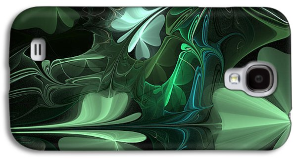 Abstracted Galaxy S4 Cases - Green Clover Field Galaxy S4 Case by Barbara A Lane