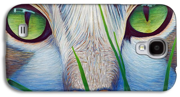 Eyes Galaxy S4 Cases - Green Eyes Galaxy S4 Case by Brian  Commerford