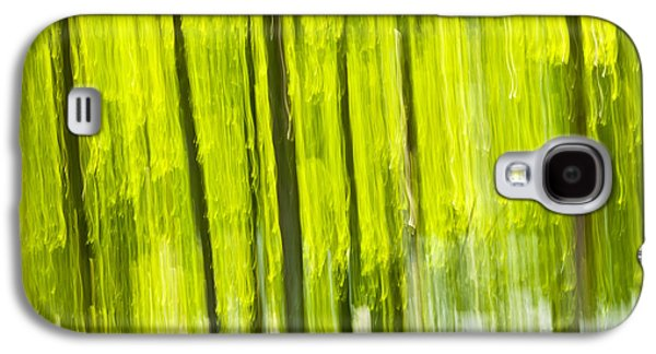 Nature Abstracts Galaxy S4 Cases - Green forest abstract Galaxy S4 Case by Elena Elisseeva