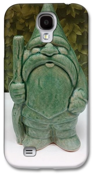 Modern Abstract Sculptures Galaxy S4 Cases - Green Gnome Galaxy S4 Case by Rob Hans