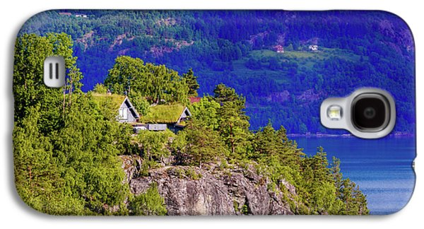 Green Roofs Of Lustrafjorden Galaxy S4 Case by Dmytro Korol