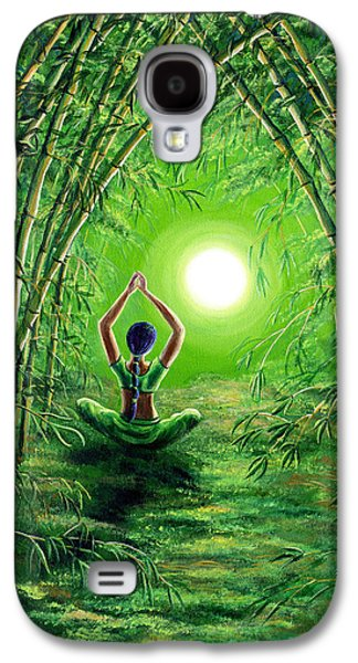 Tibetan Buddhism Galaxy S4 Cases - Green Tara in the Hall of Bamboo Galaxy S4 Case by Laura Iverson