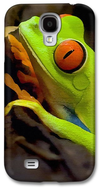 Green Galaxy S4 Cases - Green Tree Frog Galaxy S4 Case by Sharon Foster