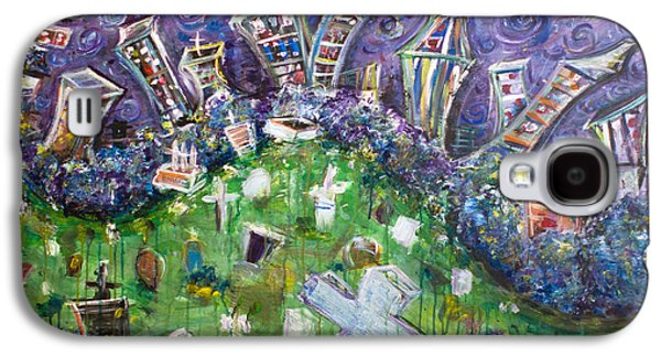Headstones Paintings Galaxy S4 Cases - Greenwood Graveyard Brooklyn Galaxy S4 Case by Jason Gluskin