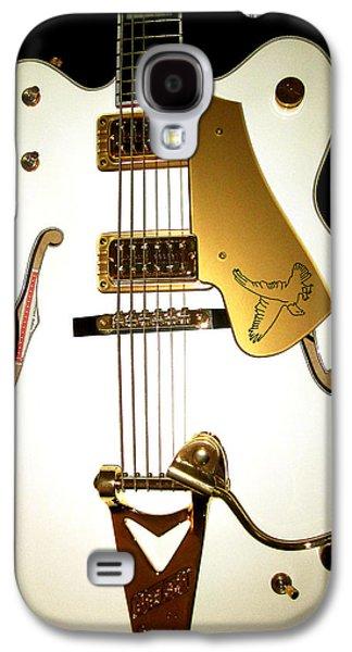 Musical Photographs Galaxy S4 Cases - Gretsch White Falcon Galaxy S4 Case by Lourry Legarde