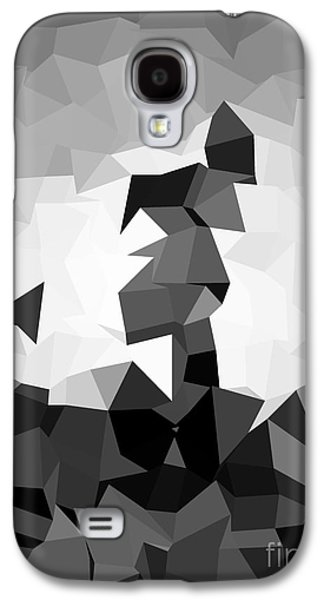 Colorful Abstract Galaxy S4 Cases - Grey Poly Galaxy S4 Case by Anita Fugoso
