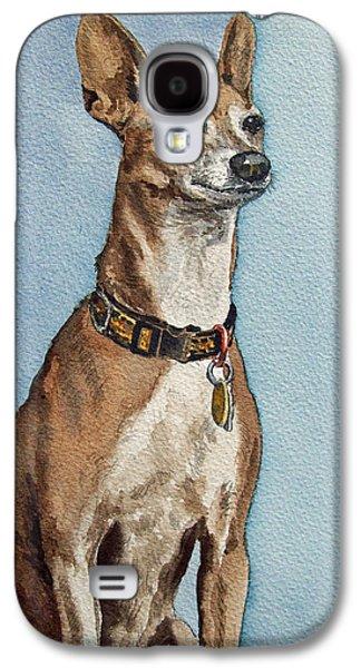 Greyhound Galaxy S4 Cases - Greyhound Galaxy S4 Case by Irina Sztukowski
