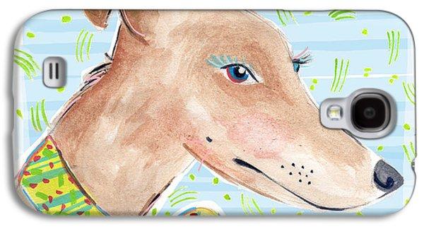 Greyhound Galaxy S4 Case by Jo Chambers