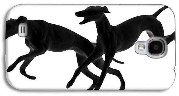 Greyhound Galaxy S4 Cases - Greyhounds travelling at 45 MPH Galaxy S4 Case by Christine Till
