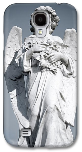 Christianity Sculptures Galaxy S4 Cases - Grieving Angel on the old graveyard Galaxy S4 Case by Yurix Sardinelly