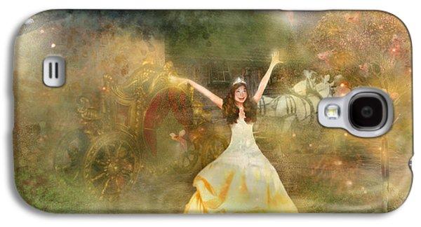 Fairies Mixed Media Galaxy S4 Cases - Grimms Fairie Cinderella  Galaxy S4 Case by Carrie Jackson