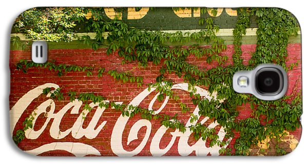 Grocery Store Galaxy S4 Cases - Grocery Stor CocaCola Sign Galaxy S4 Case by Douglas Barnett