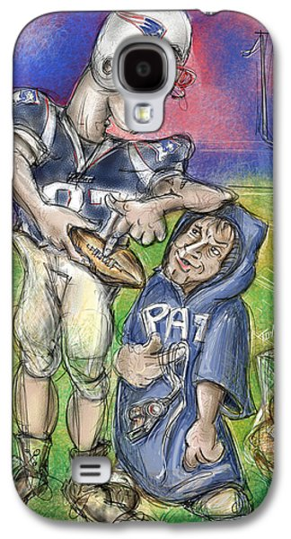 Satire Mixed Media Galaxy S4 Cases - Gronk...Deflate Gate Galaxy S4 Case by Mark Tonelli