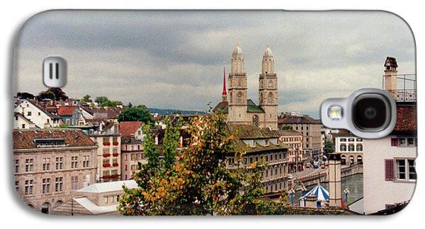 Grossmuenster Church Zurich Switzerland Galaxy S4 Case by Susanne Van Hulst