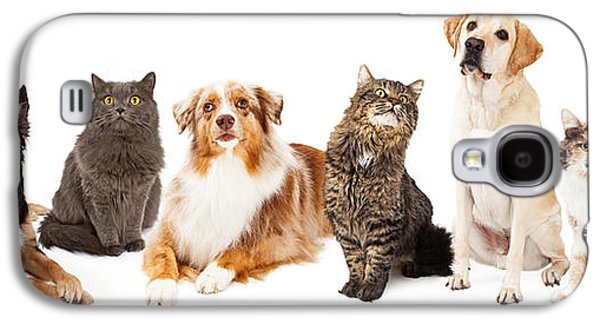 Group Of Cats And Dogs Galaxy S4 Case by Susan  Schmitz