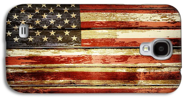 Grunge American Flag Galaxy S4 Case by Les Cunliffe