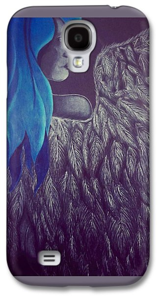 Angel Blues Drawings Galaxy S4 Cases - Guardian  Galaxy S4 Case by Alexus Wright