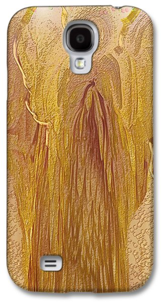 Abstract Digital Galaxy S4 Cases - Guardian Angel Galaxy S4 Case by Linda Sannuti