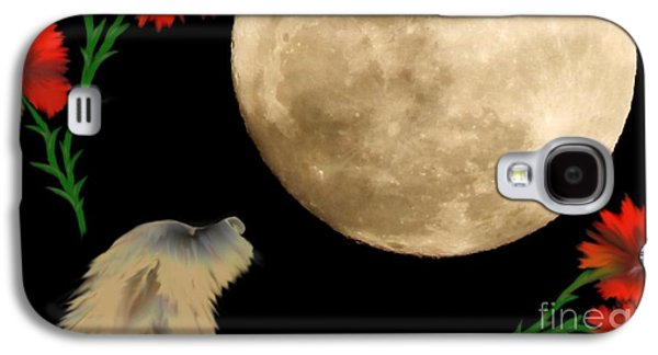 Dogs Digital Art Galaxy S4 Cases - Guardian of the Sheep Galaxy S4 Case by Cheryl Gidding