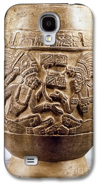 Relief Sculpture Galaxy S4 Cases - Guatemala: Mayan Vase Galaxy S4 Case by Granger