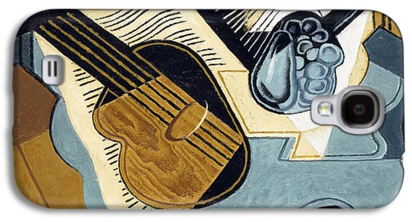 Guitar And Fruit Bowl Galaxy S4 Case by Juan Gris