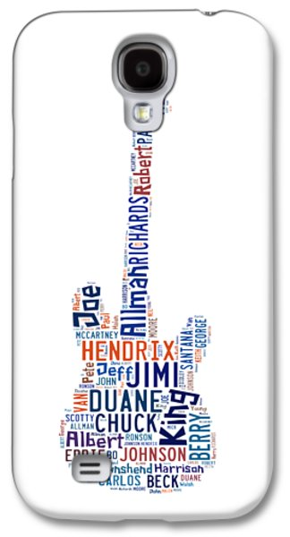 Keith Richards Galaxy S4 Cases - Guitar Legends Galaxy S4 Case by Bill Cannon