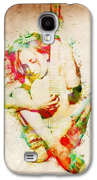 Sound Digital Galaxy S4 Cases - Guitar Lovers Embrace Galaxy S4 Case by Nikki Smith