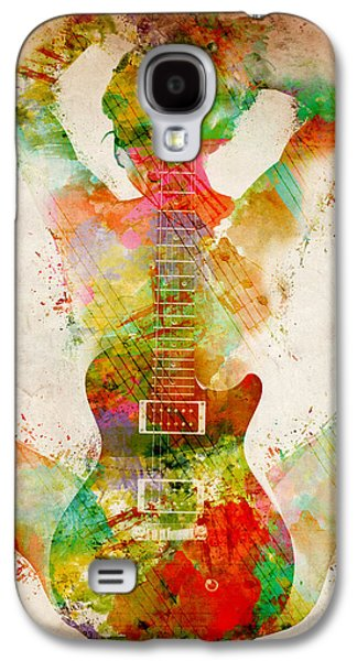 Blue Galaxy S4 Cases - Guitar Siren Galaxy S4 Case by Nikki Smith