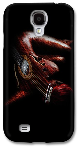 Guitar Woman Galaxy S4 Case by Marian Voicu