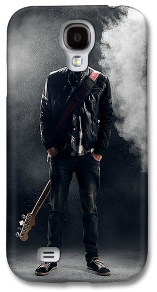 Studio Photographs Galaxy S4 Cases - Guitarist Galaxy S4 Case by Johan Swanepoel