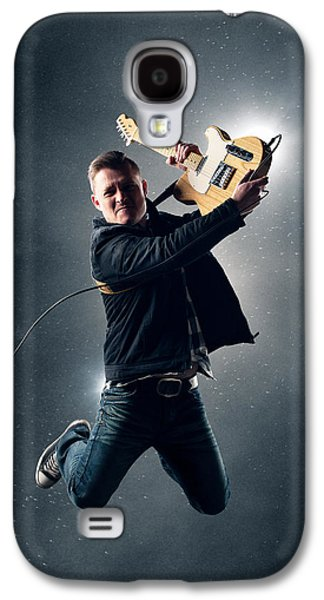 Guitarist Jumping High Galaxy S4 Case by Johan Swanepoel