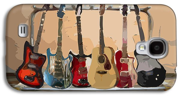 Guitar Galaxy S4 Cases - Guitars On A Rack Galaxy S4 Case by Arline Wagner