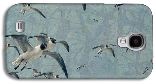 Nature Drawings Galaxy S4 Cases - Gulls Galaxy S4 Case by James W Johnson