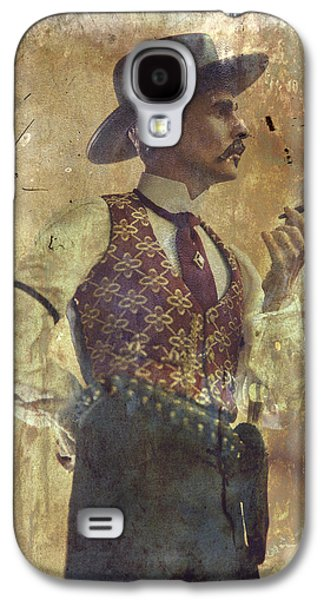 Gunslinger IIi Doc Holliday In Fine Attire Galaxy S4 Case by Toni Hopper