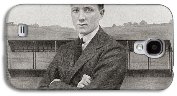 Aviator Drawings Galaxy S4 Cases - Gustav Hamel, 1889 - Missing May 23 Galaxy S4 Case by Ken Welsh