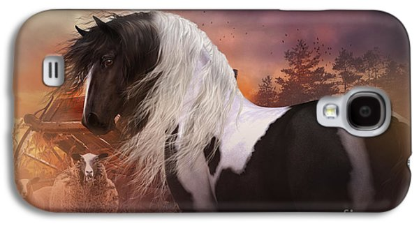 Horse And Cart Digital Art Galaxy S4 Cases - Gypsy on the Farm Galaxy S4 Case by Shanina Conway