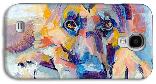 Pet Portrait Galaxy S4 Cases - Hagen Galaxy S4 Case by Kimberly Santini