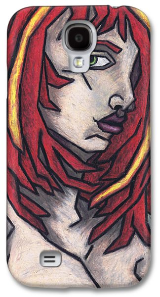 Red Abstract Pastels Galaxy S4 Cases - Haggard Galaxy S4 Case by Kamil Swiatek