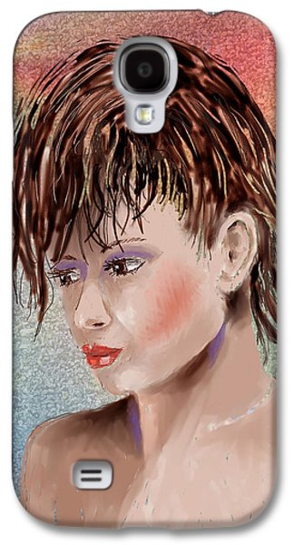 Hairstyle Digital Galaxy S4 Cases - Hairstyle Of Colors Galaxy S4 Case by Arline Wagner
