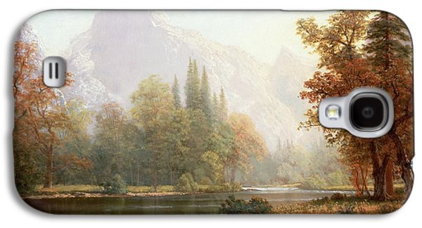 River Paintings Galaxy S4 Cases - Half Dome Yosemite Galaxy S4 Case by Albert Bierstadt