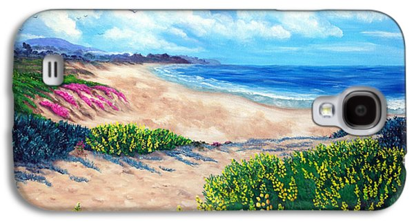 Half Moon Bay Galaxy S4 Cases - Half Moon Bay in Bloom Galaxy S4 Case by Laura Iverson