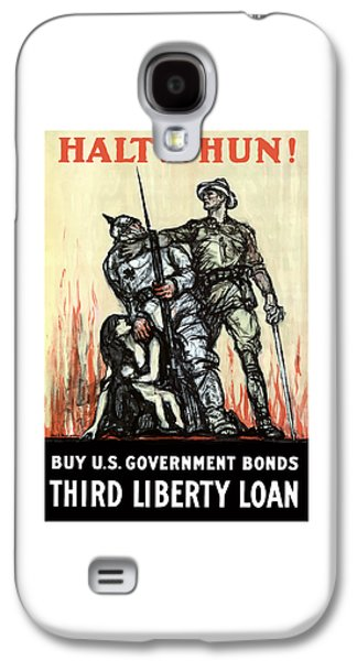 Liberty Galaxy S4 Cases - Halt The Hun - WW1 Galaxy S4 Case by War Is Hell Store