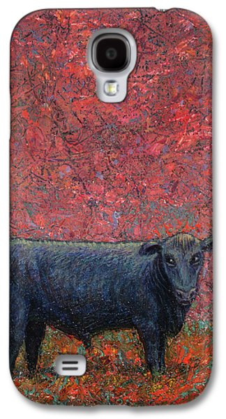 Cows Paintings Galaxy S4 Cases - Hamburger Sky Galaxy S4 Case by James W Johnson