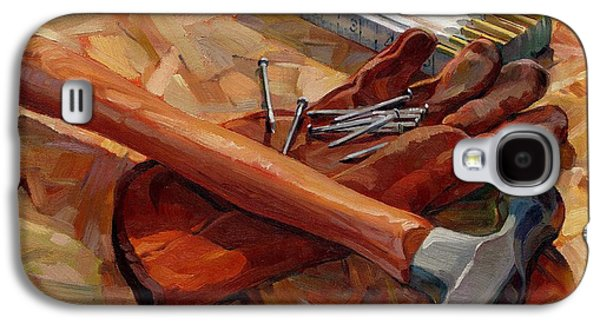 Hammer Paintings Galaxy S4 Cases - Hammer Composition Galaxy S4 Case by Joseph M Scott