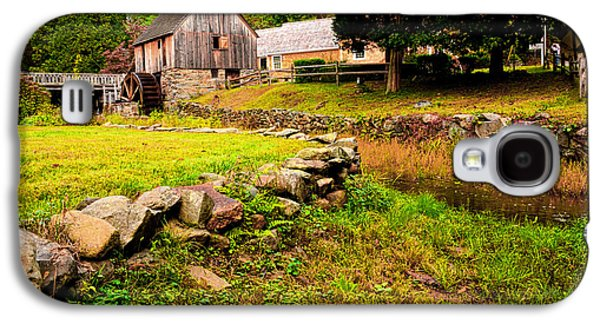 Grist Mill Paintings Galaxy S4 Cases - Hammond Gristmill Rhode Island - Colored Version Galaxy S4 Case by Lourry Legarde