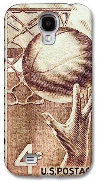 Dunk Paintings Galaxy S4 Cases - Hand and Ball Galaxy S4 Case by Lanjee Chee