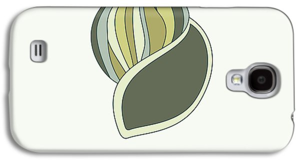 Hand Drawn Galaxy S4 Cases - Hand drawn shell in green Galaxy S4 Case by Jane Rix